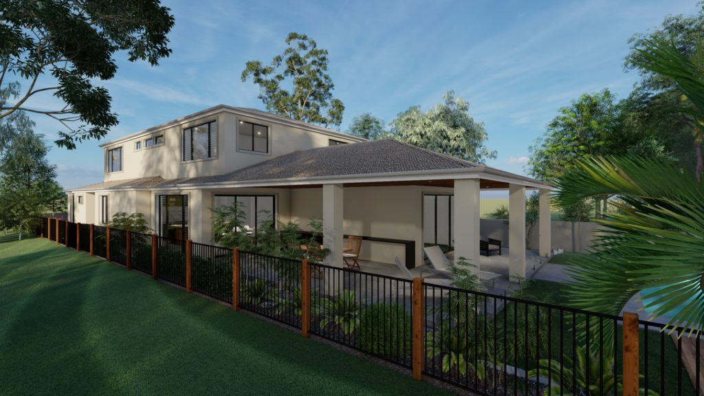 3d visulaisation exterior house taylor'd