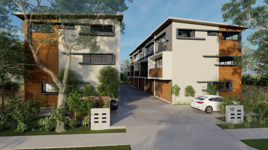 exterior townhouses multi Residential development taylor'd