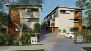 exterior townhouses multi Residential development taylor'd