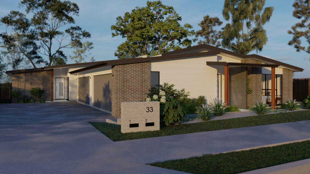 exterior duplex multi residential development taylor'd
