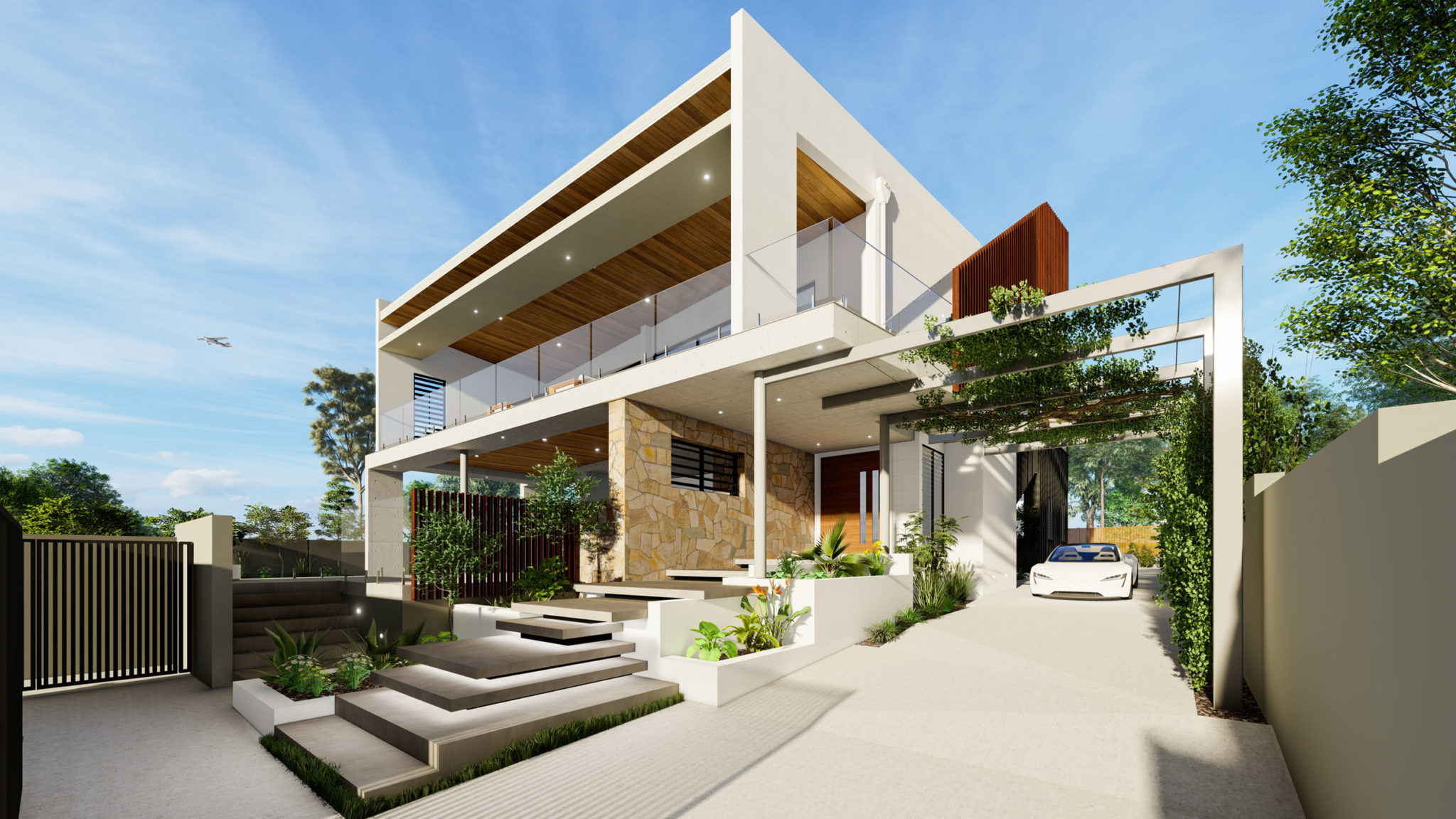 3d visualisation house exterior