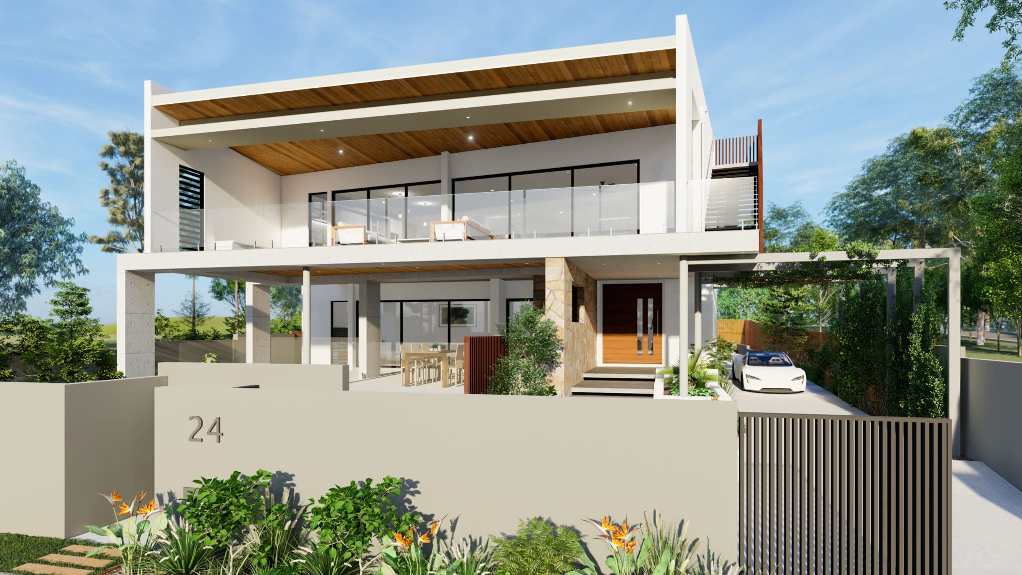 3D visualisation exterior New Build Taylo'rd