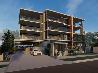 3D visualisation exterior multi level residence taylor'd